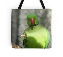 Miss, Miss, I know The Answer! - Ring Neck Parrot - NZ Queenspark Tote Bag