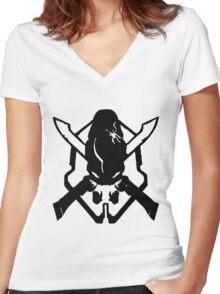 Halo Legendary Women's Fitted V-Neck T-Shirt
