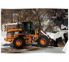 CAT Front Loader Poster