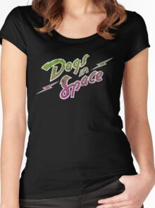 Dogs In Space - Green Purple Women's Fitted Scoop T-Shirt