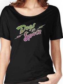 Dogs In Space - Green Purple Women's Relaxed Fit T-Shirt