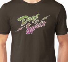 Dogs In Space - Green Purple Unisex T-Shirt