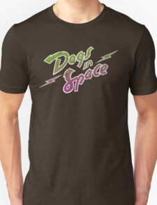 Dogs In Space - Green Purple T-Shirt