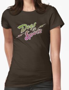 Dogs In Space - Green Purple Womens Fitted T-Shirt