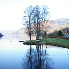 Reflection on a Loch, Scotland by Rebecca Silverman