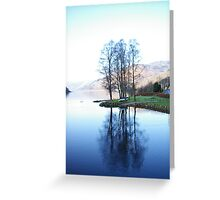 Reflection on a Loch, Scotland Greeting Card