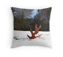 The Leaf Stands Alone Throw Pillow