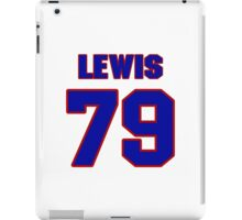 National football player Butch Lewis jersey 79 iPad Case/Skin