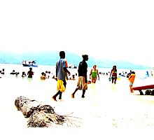 Beach Party Photographic Print