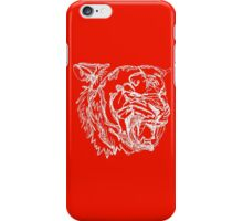 White Tiger Color Pop iPhone Case/Skin