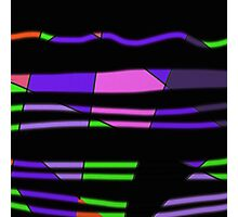 Purple wave design art Photographic Print