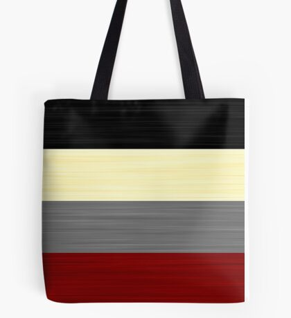 Brush Stroke Stripes: Black, Cream, Grey, and Red Tote Bag