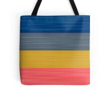 Brush Stroke Stripes: Blue, Grey, Gold, and Pink Tote Bag