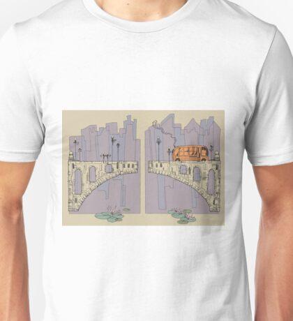 Bridge and City Bus Unisex T-Shirt