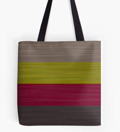 Brush Stroke Stripes: Taupe, Green, Burgundy, and Grey Tote Bag