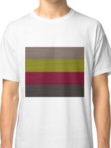 Brush Stroke Stripes: Taupe, Green, Burgundy, and Grey Classic T-Shirt