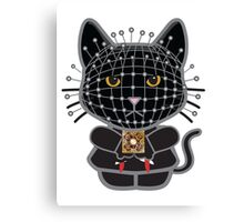 Hellraiser Black Kitty  Canvas Print