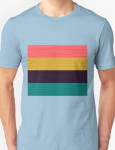 Brush Stroke Stripes: Pink, Gold, Deep Purple, and Turquoise Unisex T-Shirt