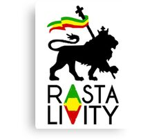 Rasta Livity BLK STK Canvas Print