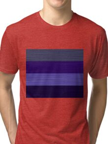 Brush Stroke Stripes: Winter Blues Tri-blend T-Shirt