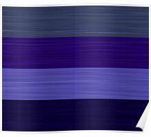 Brush Stroke Stripes: Winter Blues Poster