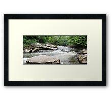 HDR Composite - A Less Placid River often called Rapids Framed Print