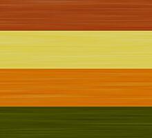 Brush Stroke Stripes: Fall Foliage by katmun