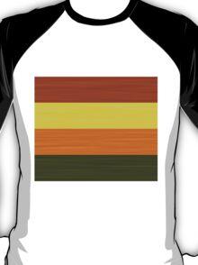Brush Stroke Stripes: Fall Foliage T-Shirt