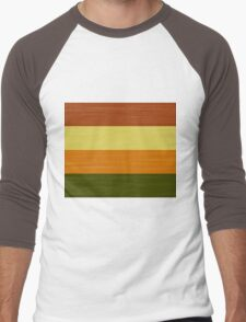 Brush Stroke Stripes: Fall Foliage Men's Baseball ¾ T-Shirt