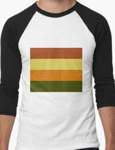 Brush Stroke Stripes: Fall Foliage Men's Baseball ¾ T-Shirt