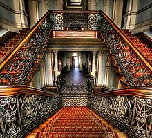 ...the Mansion Staircase by Lisa  Kenny
