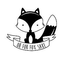 Oh For Fox Sake - Black And White by revoltz