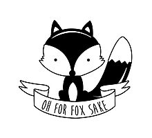 Oh For Fox Sake - Black And White Photographic Print