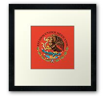 Close up of seal in the national flag of Mexico Framed Print