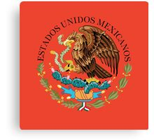 Close up of seal in the national flag of Mexico Canvas Print