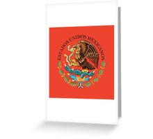 Close up of seal in the national flag of Mexico Greeting Card