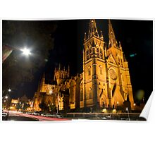 St.Mary's Cathedral Sydney  Poster