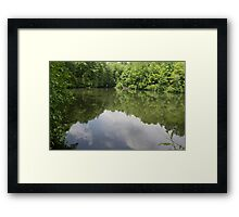 HDR Composite - A Secluded Pond Framed Print