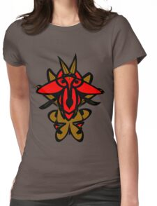 Warrior Goat Womens Fitted T-Shirt