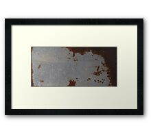 HDR Composite - A Sport of Rust Texture Framed Print