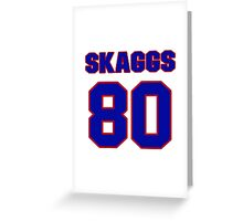 National football player Justin Skaggs jersey 80 Greeting Card