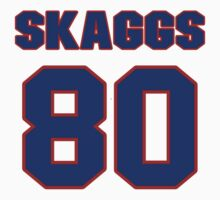 National football player Justin Skaggs jersey 80 by imsport