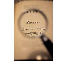 Success Word Art Photographic Print