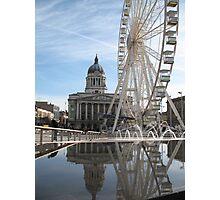 Nottingham Slab Square Photographic Print