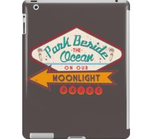 PARK BESIDE THE OCEAN ON OUR MOONLIGHT DRIVE iPad Case/Skin