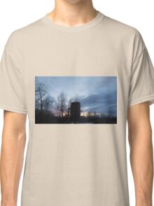 HDR Composite - Backlit Sunset Trees and Abandoned Silo Classic T-Shirt