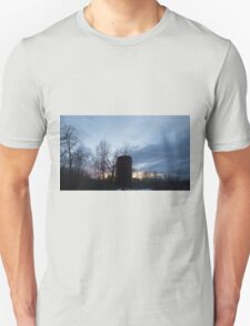 HDR Composite - Backlit Sunset Trees and Abandoned Silo T-Shirt