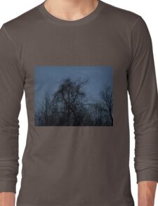 HDR Composite - Backlit Trees and Twilight Long Sleeve T-Shirt