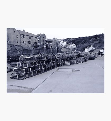 Lobster pots Staithes, North Yorkshire. Photographic Print