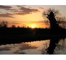Irish Canal Sunset II Photographic Print